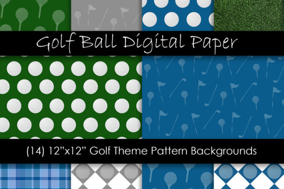 Golf Ball Patterns & Golf Backgrounds Graphic Backgrounds By GJSArt - Image 1