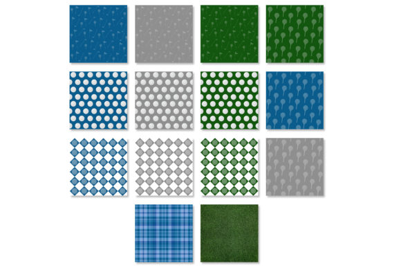 Golf Ball Patterns & Golf Backgrounds Graphic Backgrounds By GJSArt - Image 2