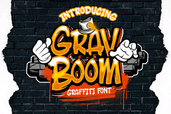 Print on Demand: Grav Boom Display Font By Dansdesign