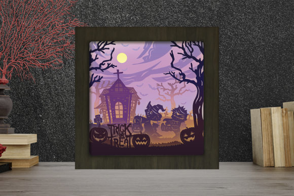 Halloween 12 Light Box Shadow Box Graphic 3D Shadow Box By LightBoxGoodMan