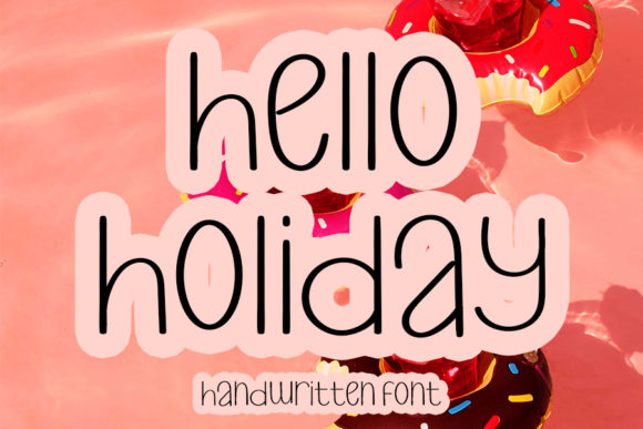 Print on Demand: Hello Holiday Script & Handwritten Font By K_IN Studio