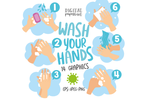 Print on Demand: How to Wash Your Hands Graphic Illustrations By DigitalPapers