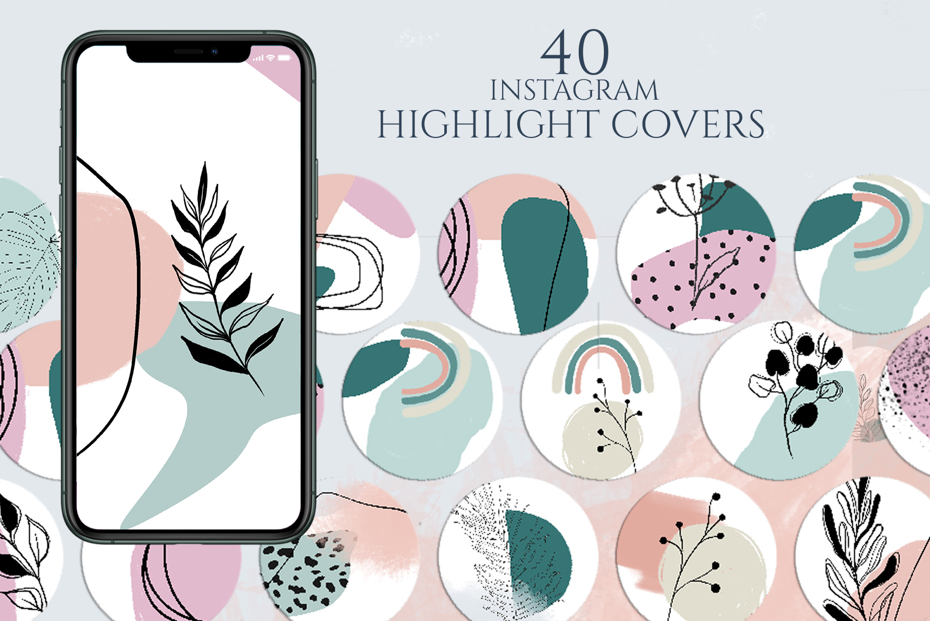 Instagram Highlight Covers Pink Blue Graphic By Lena Dorosh Creative Fabrica