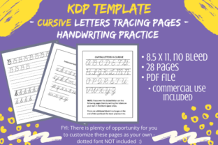 Print on Demand: KDP Cursive Handwriting Letters Practice Graphic KDP Interiors By Tomboy Designs