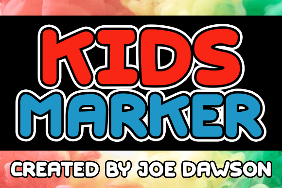 Print on Demand: Kids Marker Display Schriftarten von Joe Dawson