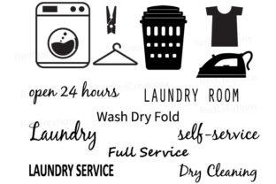 Laundry Room  Laundry Service Gráfico Crafts Por RedCreations