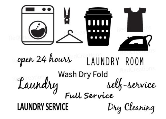 Laundry Room Laundry Service Graphic Crafts By RedCreations