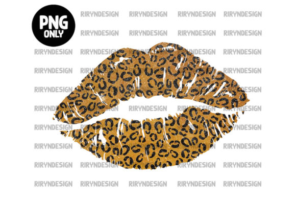 Leopard Lip Sublimation Design Graphic Icons By riryndesign