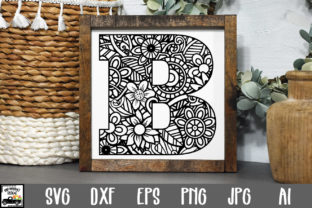 Print on Demand: Letter B Cut File Graphic Crafts By oldmarketdesigns