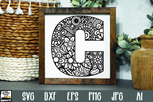 Print on Demand: Letter C Cut File Graphic Crafts By oldmarketdesigns