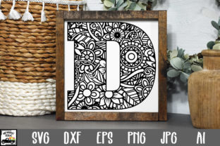 Print on Demand: Letter D Cut File Graphic Crafts By oldmarketdesigns