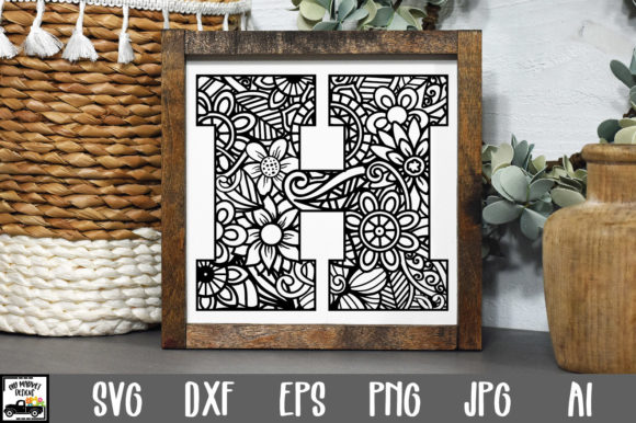 Print on Demand: Letter H Cut File Graphic Crafts By oldmarketdesigns