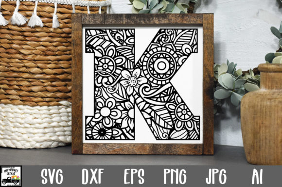 Print on Demand: Letter K Cut File Graphic Crafts By oldmarketdesigns