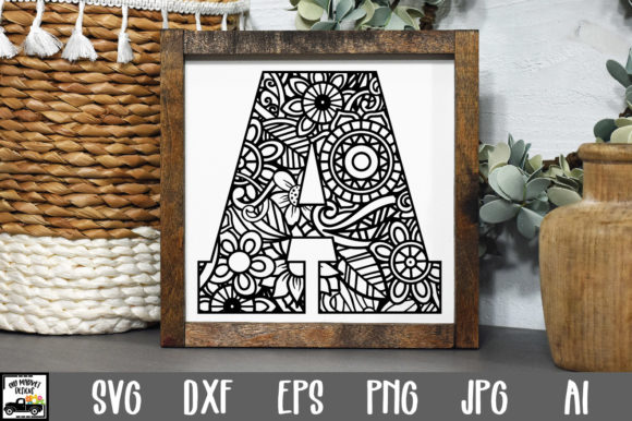 Print on Demand: Letter a Cut File Graphic Crafts By oldmarketdesigns