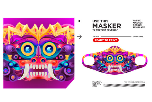 Masker Design Template and Mockup Graphic Product Mockups By singpentinkhappy.project