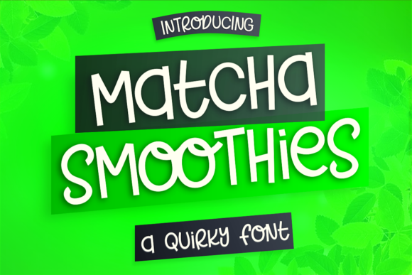Print on Demand: Matcha Smoothies Display Font By deedeetype