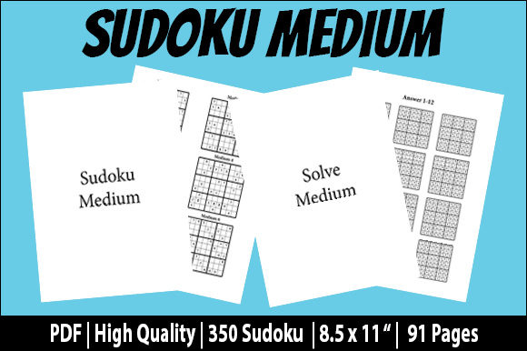 Print on Demand: Medium Sudoku Brain Puzzle Game & Answers Graphic KDP Interiors By Creative Crafts