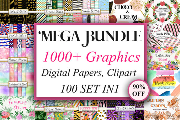Mega Bundle Graphics  von PinkPearly