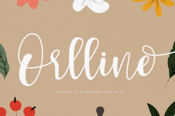 Print on Demand: Orlline Script & Handwritten Font By Creativewhitee