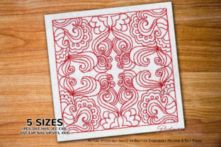 Paisely Grass Design Pattern Lineart Paisley Embroidery Design By Redwork101