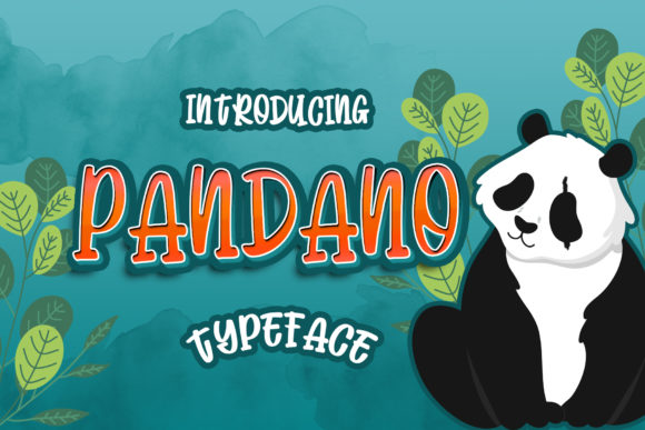 Print on Demand: Pandano Display Font By Dansdesign