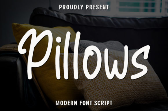 Print on Demand: Pillows Script & Handwritten Font By rangkaiaksara