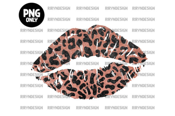 Pink LeopardLip Sublimation Design Graphic Icons By riryndesign