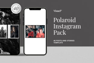 Print on Demand: Polaroid - Instagram Pack Template Graphic UX and UI Kits By Visuelcolonie