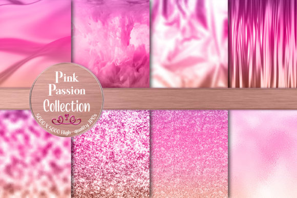 Pretty Pink Passion Ombre Gradients Graphic Backgrounds By AM Digital Designs