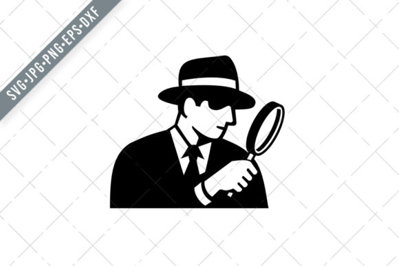 Print on Demand: Private Eye Detective Inspector Graphic Illustrations By patrimonio