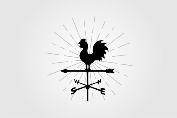Rooster Weather Vane Vector Symbol Graphic Logos By lawoel