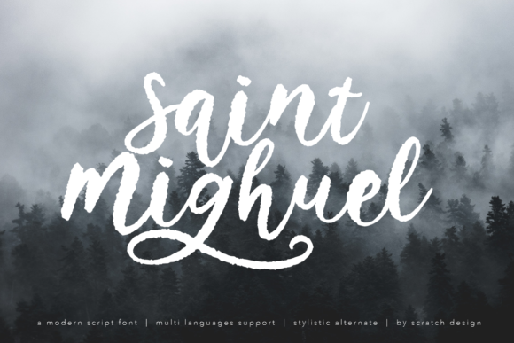 Print on Demand: Saint Mighuel Script & Handwritten Font By Scratch Design