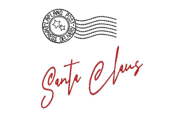 Santa Signature and Stamp Embroidery Download