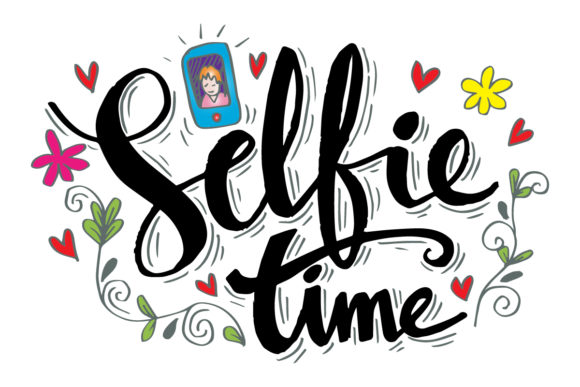 Selfie Time Hand Lettering Graphic Crafts By han.dhini
