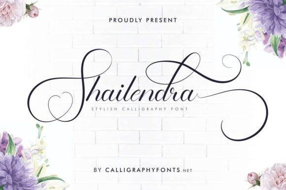 Print on Demand: Shailendra Script & Handwritten Font By CalligraphyFonts