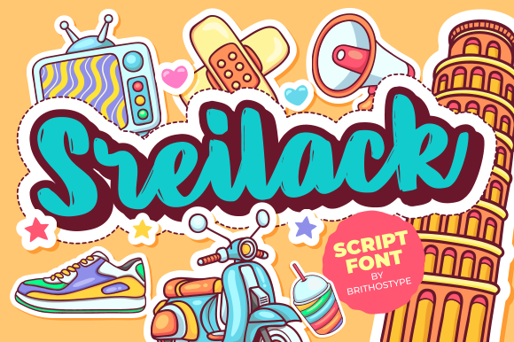 Print on Demand: Sreilack Display Font By brithostype