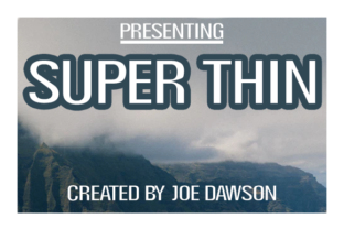 Print on Demand: Super Thin Display Font By Joe Dawson