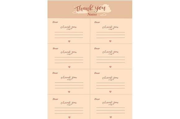 Print on Demand: Thank-you Note Card Graphic Graphic Templates By arts4busykids