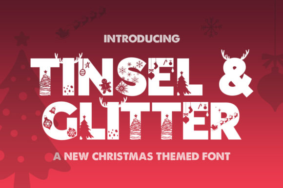 Print on Demand: Tinsel & Glitter Display Font By Salt & Pepper Designs - Image 1