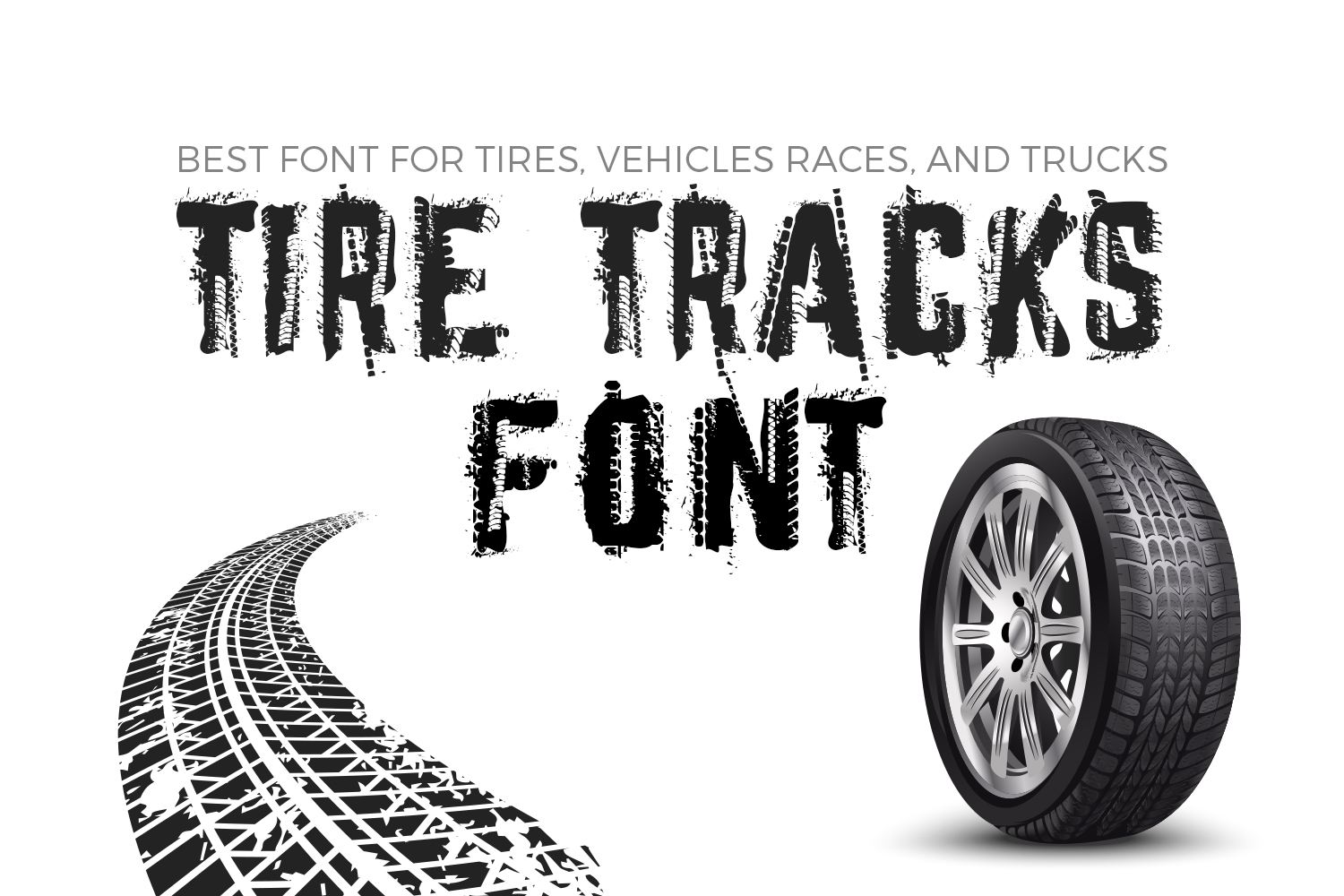 Tire Tracks Font By Owpictures Creative Fabrica