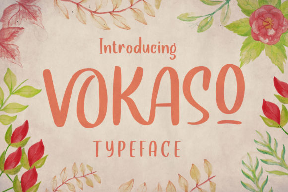 Print on Demand: Vokaso Display Font By Alit Design