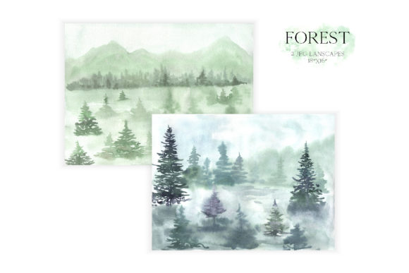 Watercolor Forest Tree Clipart Graphic Illustrations By Larysa Zabrotskaya - Image 3