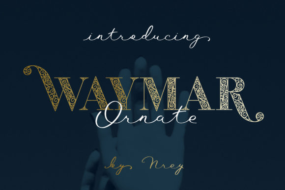 Print on Demand: Waymar Ornate Display Font By NREY