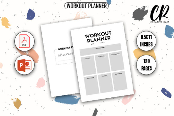 Workout Planner - KDP Interior Graphic KDP Interiors By Creative Ram