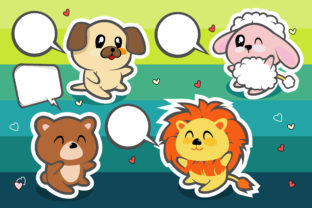 Happy Cute Animal for Design Graphic Illustrations By onoborgol