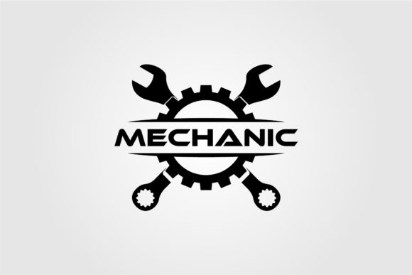 Mechanic Gear and Wrench Logo Design Graphic Logos By lawoel