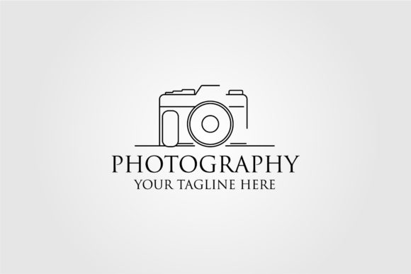 Photography Line Art Logo Design Graphic Logos By lawoel