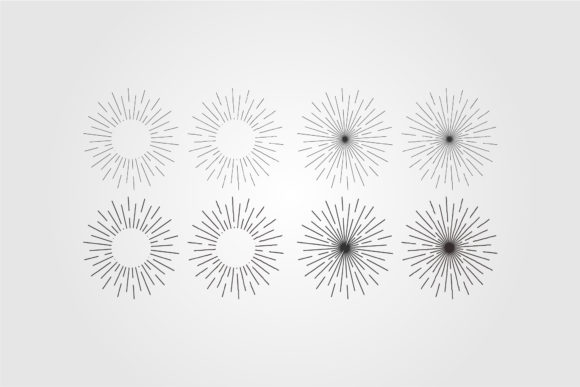 Sunburst or Starburs Tvector Beckground Graphic Objects By lawoel