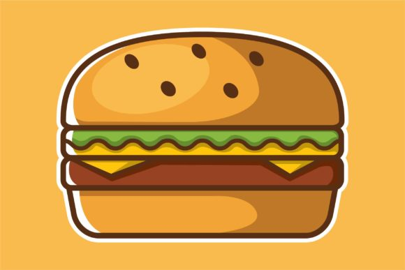 Print on Demand: Burger Vector Template Graphic Logos By Saber Studio
