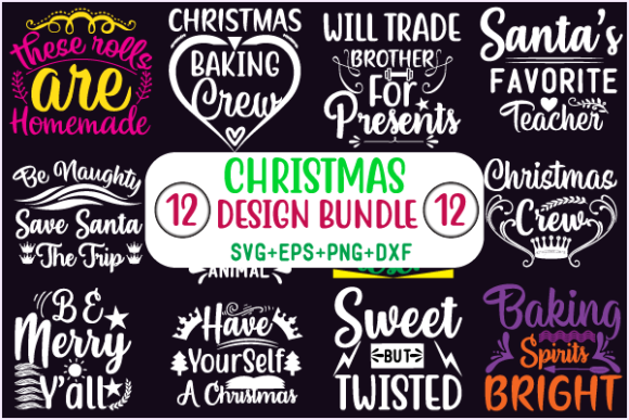 Christmas Design Bundle Graphic Crafts By creative store.net